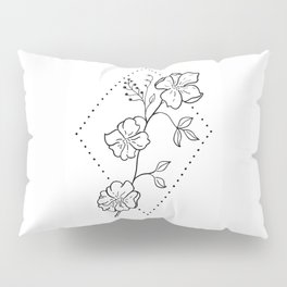 Wildflower in Stippled Diamond Illustration Pillow Sham