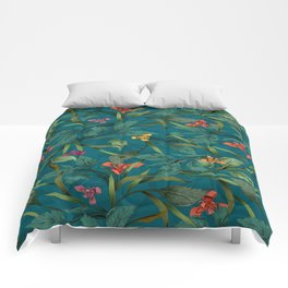 Beets and Irisses pattern Comforters