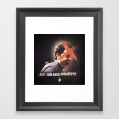 Black Mirror | Dale Cooper Collage Framed Art Print
