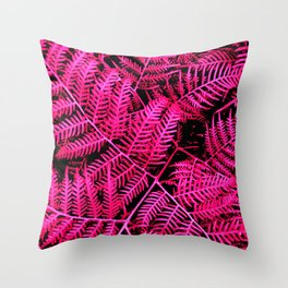 Pink Bracken Throw Pillow