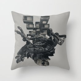 The Racist Undercurrent Maintains Paranoia Throw Pillow
