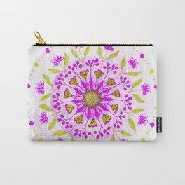 Floral Grove Mandala Carry-All Pouch