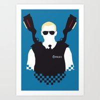 hot fuzz Art Prints featuring Here Come The Fuzz by Byway
