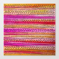 FUNKY RHYTHM 2 - Beautiful Fun Collaboration w Sreetama Ray, Pretty Feminine Pink Orange Pattern Canvas Print