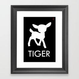 Bambi Tiger Framed Art Print