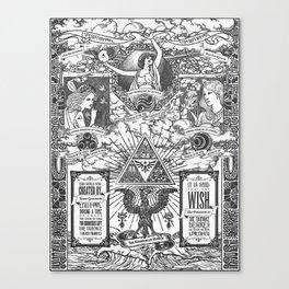 Legend of Zelda - The Three Goddesses of Hyrule Geek Line Artly Canvas Print