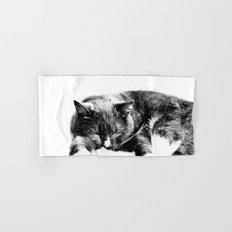 Sleeping Cat Hand & Bath Towel