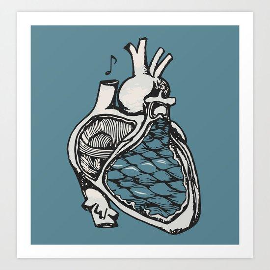 H E A R T Art Print