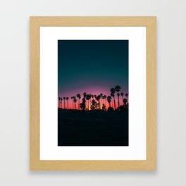 Later Sunset at the Beach Framed Art Print