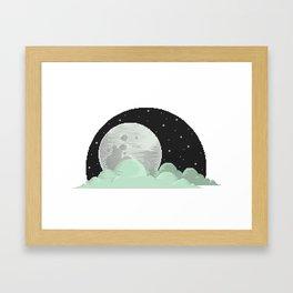 Lone Moon Framed Art Print