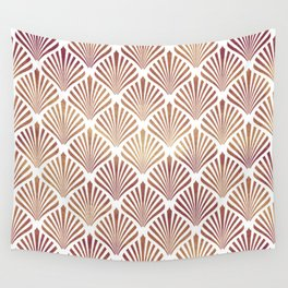 Rose-gold geometric art-deco pattern Wall Tapestry