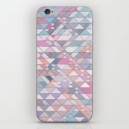 Triangle Pattern no.25 Light Pink iPhone Skin