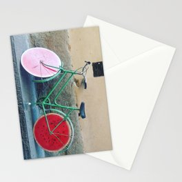 Watermelon Bicycle in Florence Stationery Cards