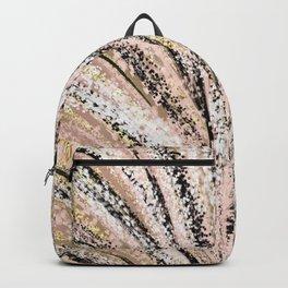 Rose Gold and Glitter Brushstroke Bursts Backpack