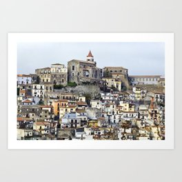 Urban Landscape - Cathedral - Sicily - Italy Art Print