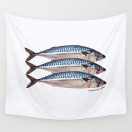 Fresh Cornish Mackerel Wall Tapestry
