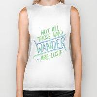 wander Biker Tanks featuring Wander by IndigoEleven