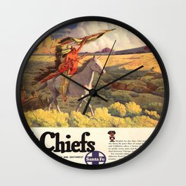 Vintage poster - The Chiefs Wall Clock