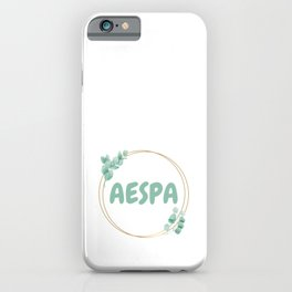 AESPA cute lettering iPhone Case