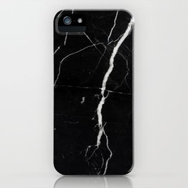 Marble (Black) iPhone Case