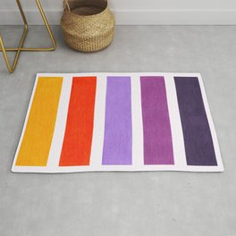 Orange & Purple Geometric Pattern Rug