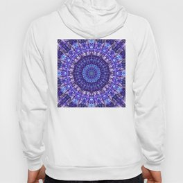 Indulgence of lavendery details in the lace mandala Hoody