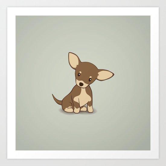 Chihuahua Puppy Illustration Art Print