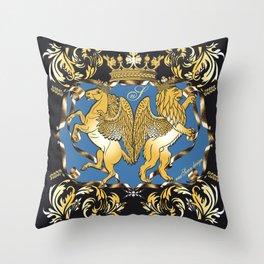 Horse & Leo Royal Blue Throw Pillow