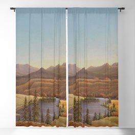African American Masterpiece View of Lake Okanagan, British Columbia by Grafton Tyler Brown Blackout Curtain