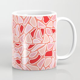 Modern Coral Pink Red Abstract Mosaic Geometric Coffee Mug