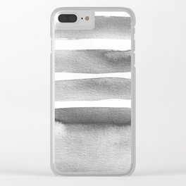 Minimalist Gray Clear iPhone Case