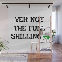 Irish Slang - Yer not the full shilling Wall Mural