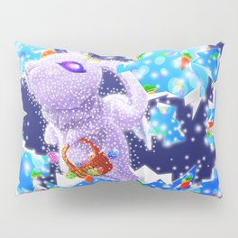 'You Cracked the Egg' Series - Easter Angelic Bunny with Premium Background Pillow Sham