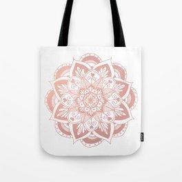 Flower Rose Gold Mandala Tote Bag