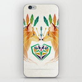 foxes in love iPhone Skin