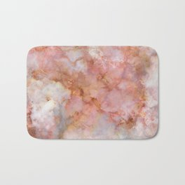 Beautiful & Dreamy Rose Gold Marble Bath Mat
