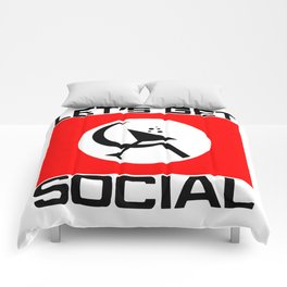 Let's Get Social Comforters