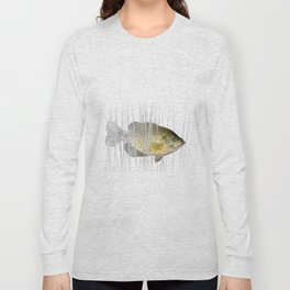 Black Crappie Fish Long Sleeve T-shirt