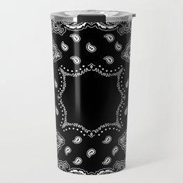 Bandana Black & White Travel Mug