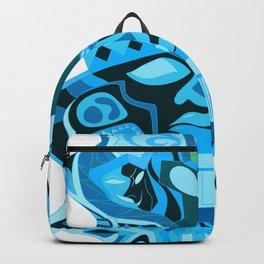 gemini olmec alien pattern head ecopop Backpack