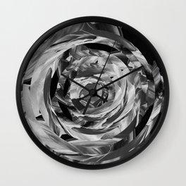 black and white and circles Wall Clock