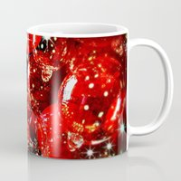 sparkles Mugs featuring Christmas Sparkles by Nicklas Gustafsson