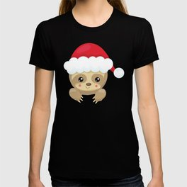 Christmas Sloth, Sloth With Santa Hat, Cute Sloth T-shirt