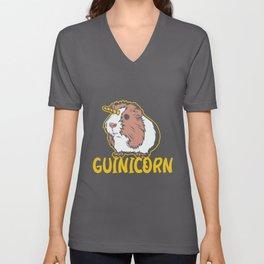 Guinea Pig Unicorn Tee cute rodent furry wheek Unisex V-Neck