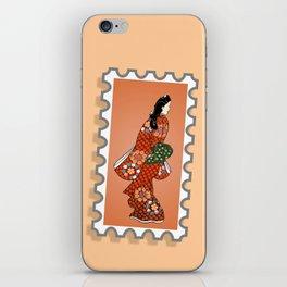 Beauty looking back. iPhone Skin