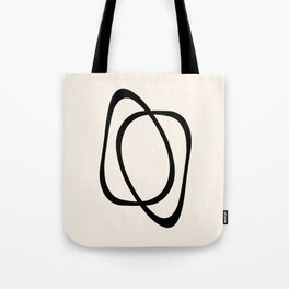 Interlocking Two A - Minimalist Line Abstract Tote Bag