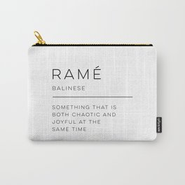 Ramé Definition Carry-All Pouch