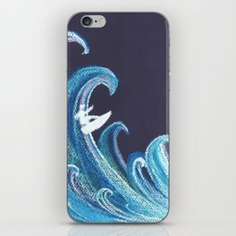 Go with the wave iPhone Skin
