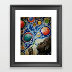 Bubble Boy Framed Art Print