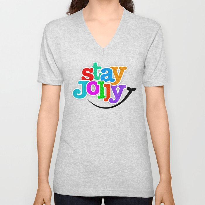 Stay Jolly - Key to Happiness Unisex V-Neck